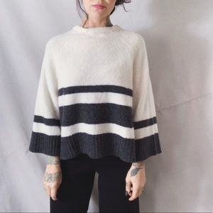 BANANA REPUBLIC Plush Alpine Stripe Wide Sweater